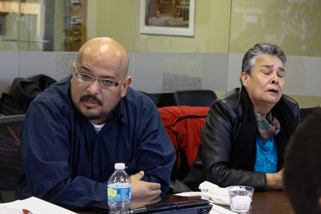 Juan Carlos and his mother, Doña Maria, during a November 23, 2015 roundtable discussion hosted by the Latin America Working Group and the Washington Office on Latin America.
