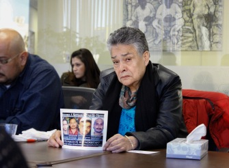 Doña Maria Herrera of the Mexican organization Familiares en Búsqueda María Herrera during a November 2015 advocacy trip to Washington D.C.