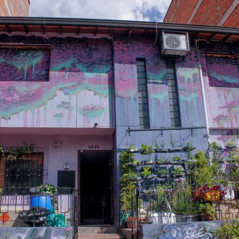 """La Casa Morada,"" a meeting space for activists from Comuna 13, including the agrarian hip hop collective known as AgroArte."
