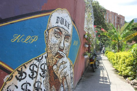 "Murdered hip hop artist ""El Duke"" is memorialized with a mural in Comuna 13."